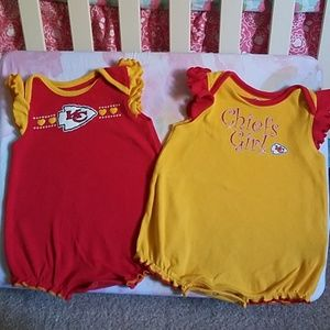 Baby Girl Chiefs rompers
